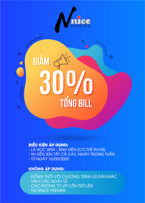 OFF 30% TỔNG BILL